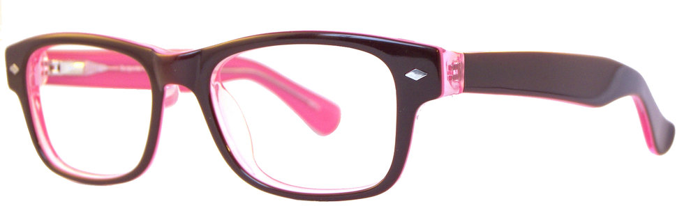 Geekalicious:  49-17-135 Available in Burgundy/Pink, Black, Brown/Blue, or Tortoise/Cream