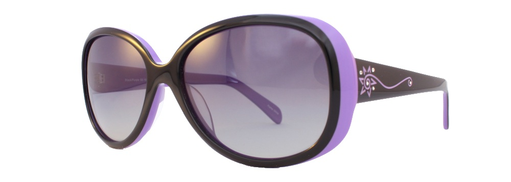 El Sol  58-16-138, Available in Black/Purple, Black/Red, or Brown/Teal (Polarized Sun)