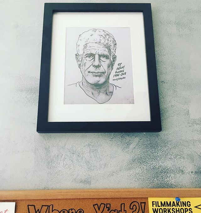 Shoutout to @weijerrychen for the amazing artwork addition to the restaurant in honor of @anthonybourdain