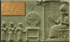 Earliest known depiction of the Nibiruian Anunnaki Chalupa being shared with the humans.