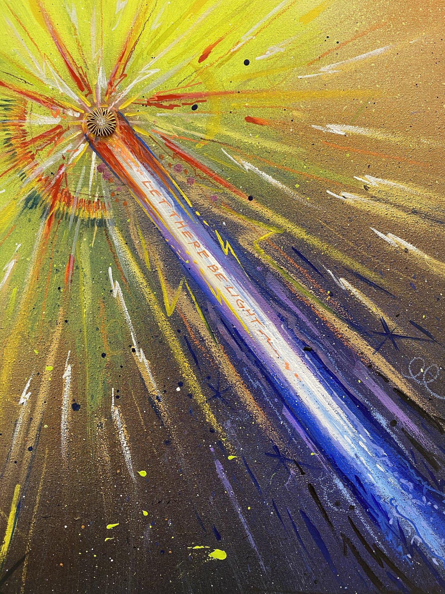 """Cometa, Latin for Comet"" Original Painting — Latin for Glory"