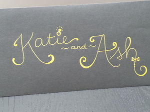 engagement card, addressed