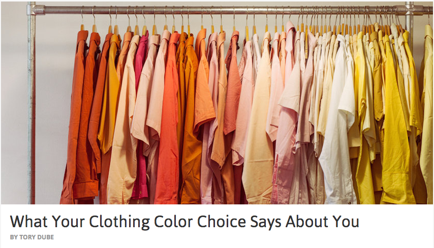 what your clothing says about you Find out what your outfits say about your personality.