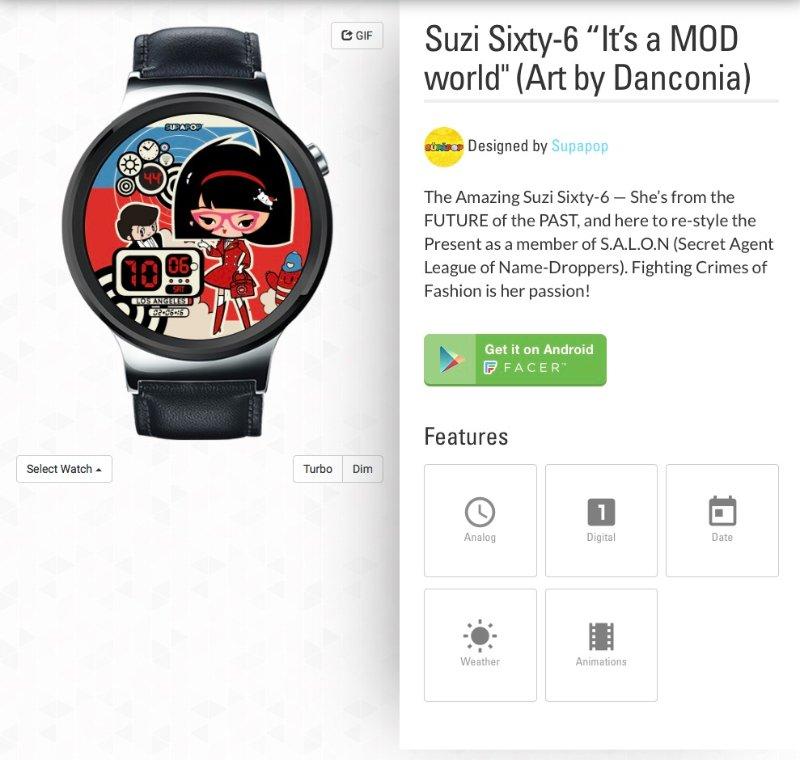 SupaPop Suzi Sixty-6 Watch by Danconia