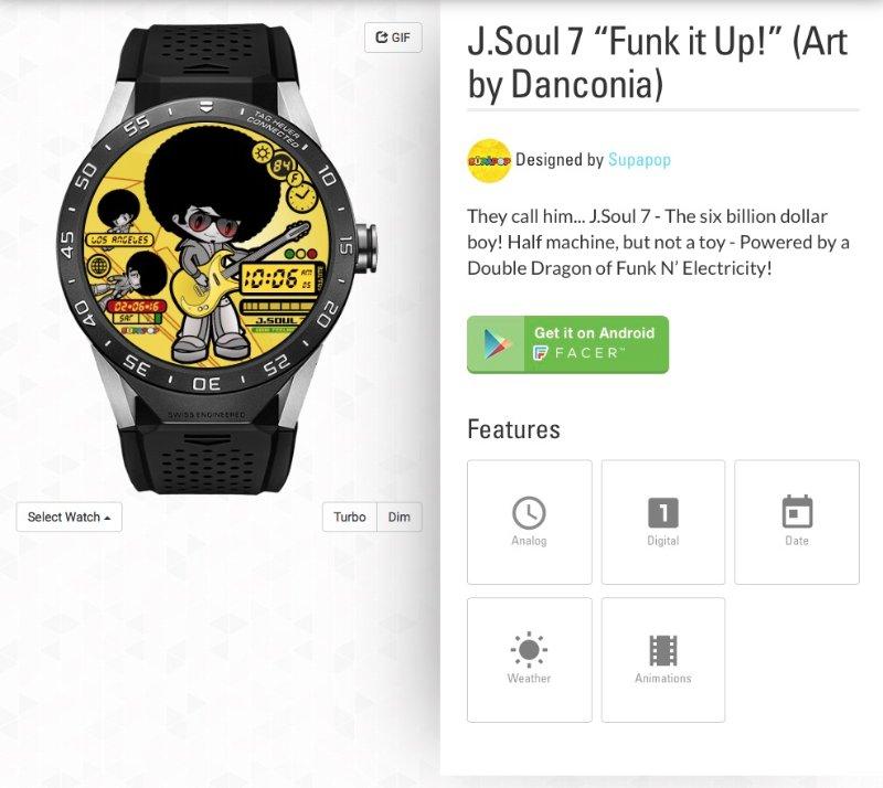 J.Soul 7 SupaPop Watch by Danconia