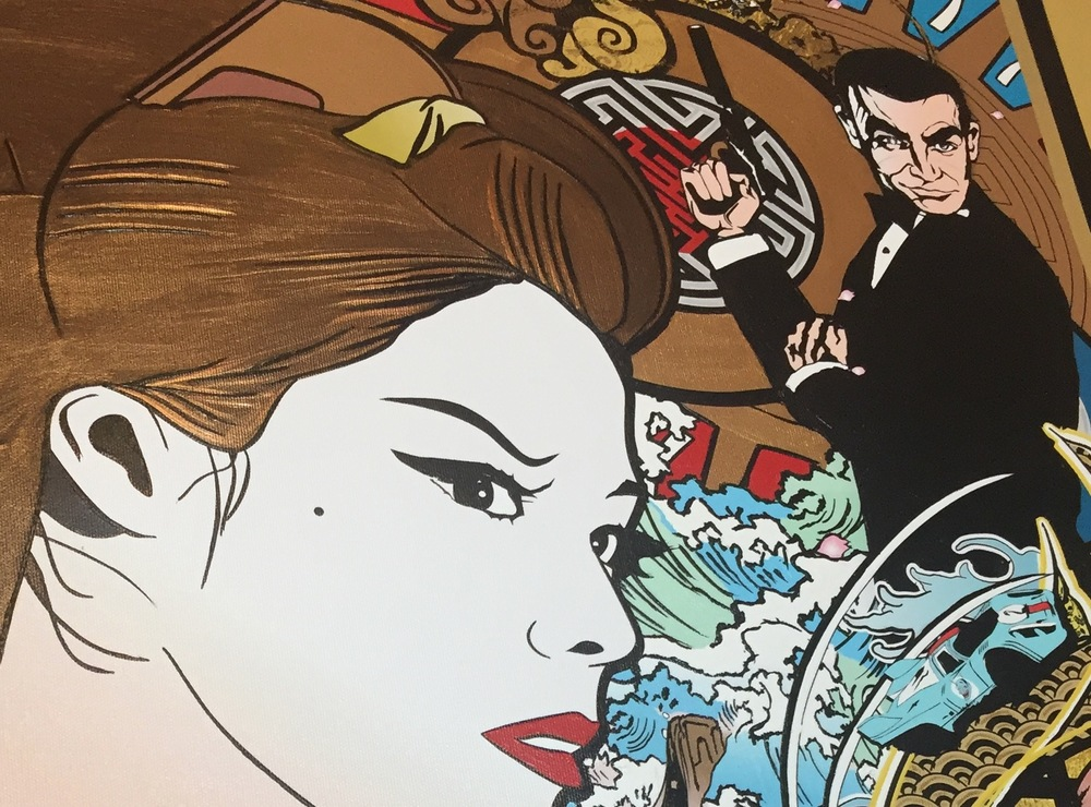 Close up, Mr. Bond? Notice the Golgo 13 eyebrows...Don't stand behind him...