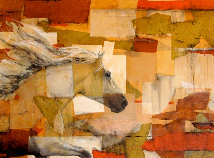 HORSE POWER  1  60 x 48 x 1.5  Mixed Media on Canvas