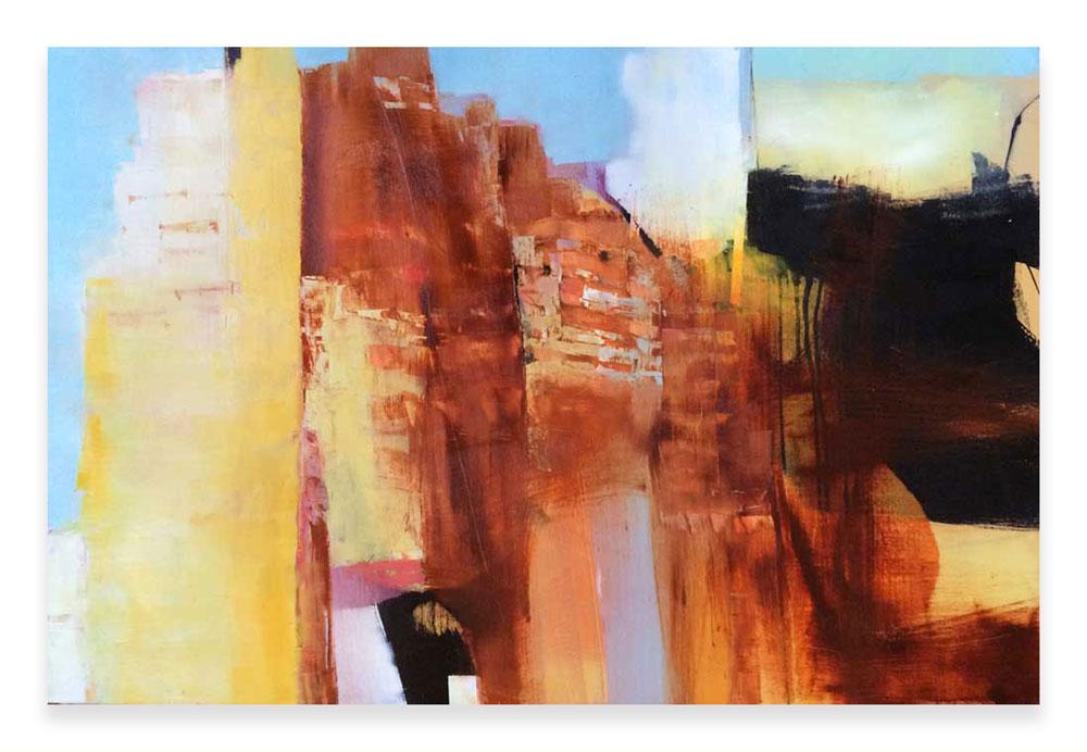STRATIFIED  36 x 24 x 1.5  Oil on Wood Panel
