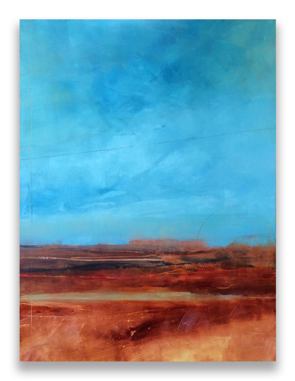 DAYBREAK /  SOLD   30 x 40 x 1.5  Oil on Wood Panel