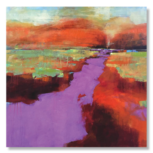 PURPLE DAWN 2     SOLD   48 x 48 x 1.5  Oil on Canvas