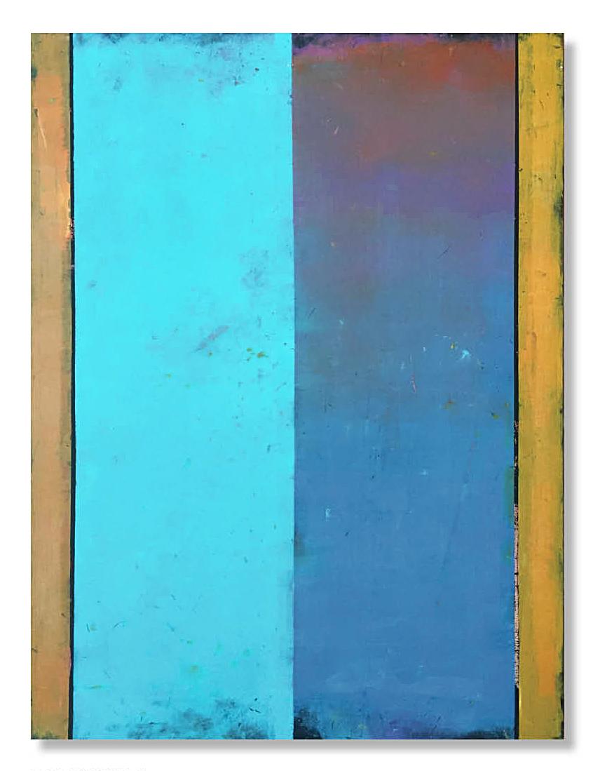 COLORFIELD 22  30 X 40 X 1.5  Oil on Wood Panel