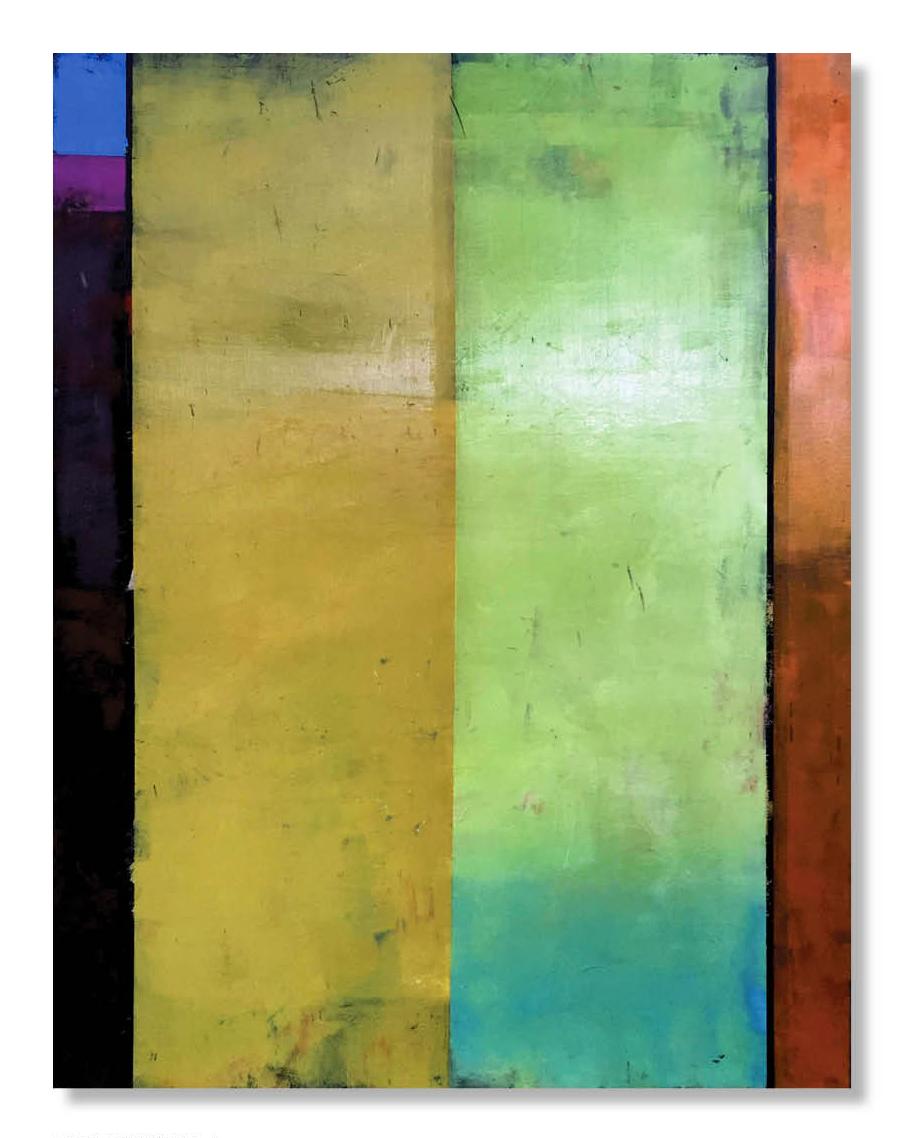 COLORFIELD 21  36 x 48 x 1.5  Oil on Wood Panel