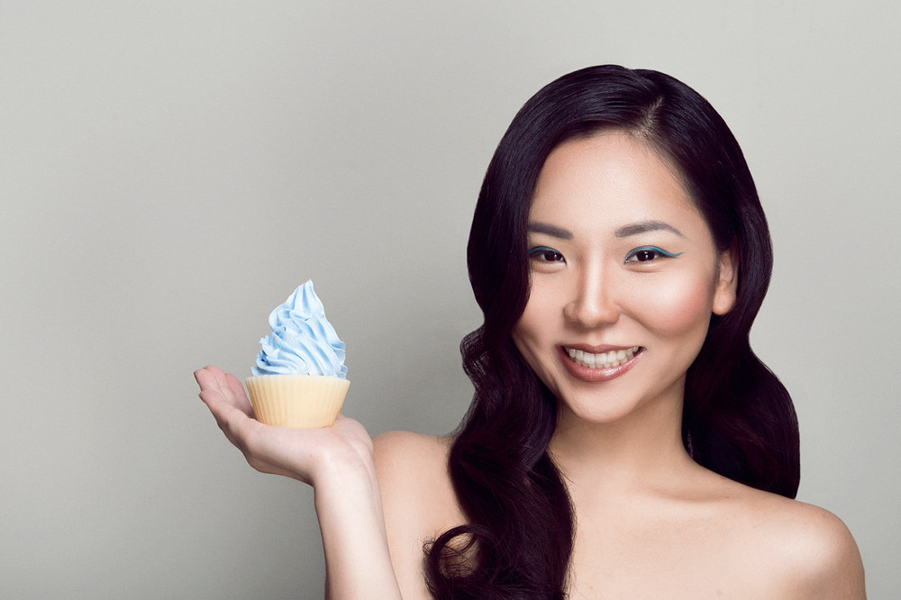 Melissa Lim with beautimy products