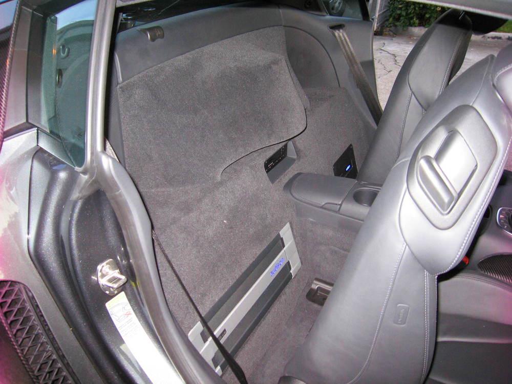 Backseat Sub and Amp Installation