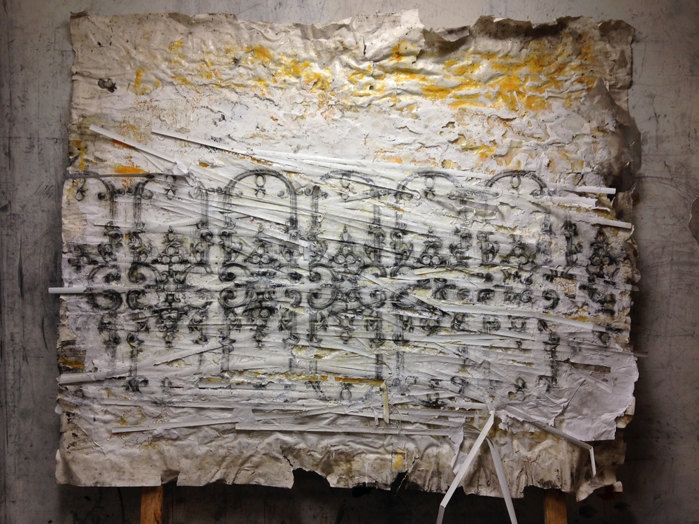 The Second, Loomis Street, Matt Woodward, 6'x6', Mixed-media on Paper, 2014