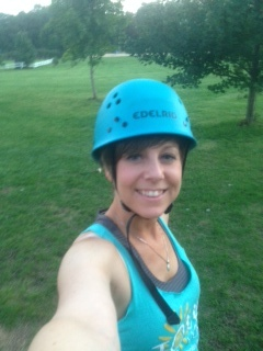 Taking a trip down the zip-line the evening before the inaugural Shero Experience September 4th, 2014.