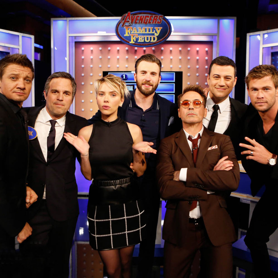 4/13/2015 - Scarlett Johansson at Jimmy Kimmel Live