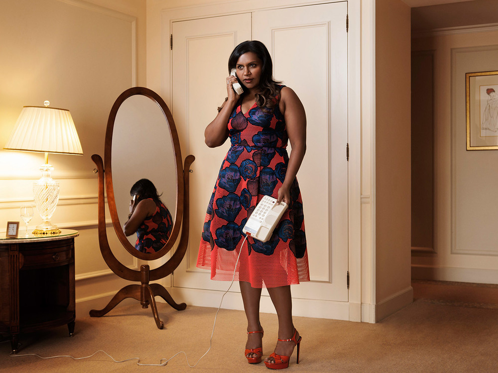 05-19-2015 Mindy Kaling wearing Sachin & Babi Noir FW15 at the 68th Cannes Film Festival