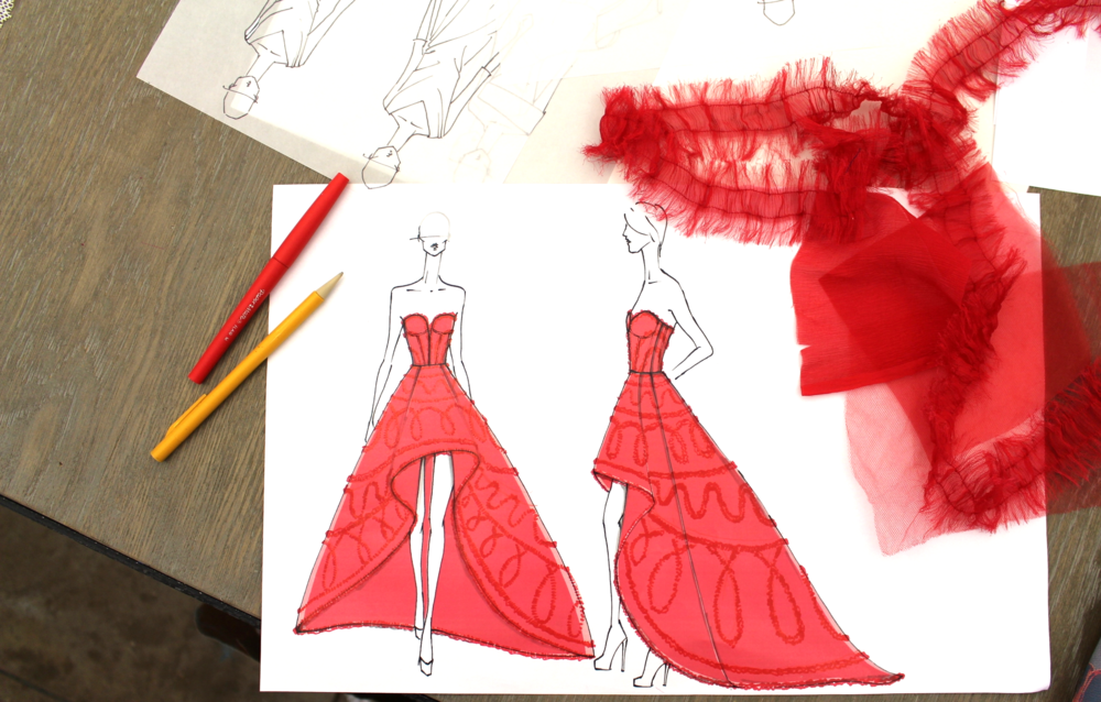 From a sketch to a dress - The Josephine gown