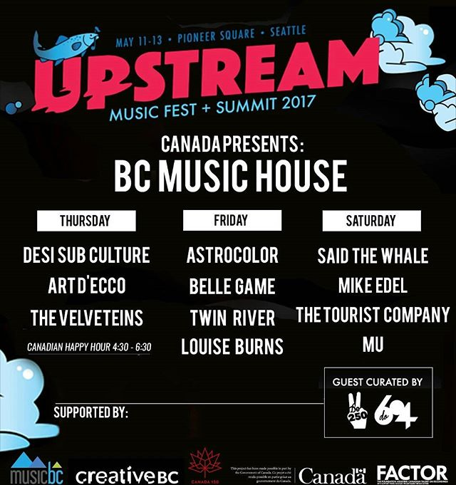 Come meet some fricken Canadians at @upstreammusicfest tomorrow bud! 🍁Also come  give yer girlfranz a big ole smooch #seattle . . . . #upstreammusicfest #music #vancouver #musicbc #factor