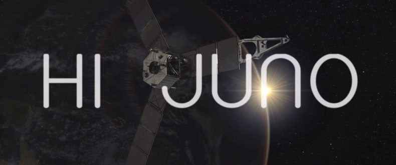 HI JUNO - Earthlings send a globally coordinated signal to a spaceship