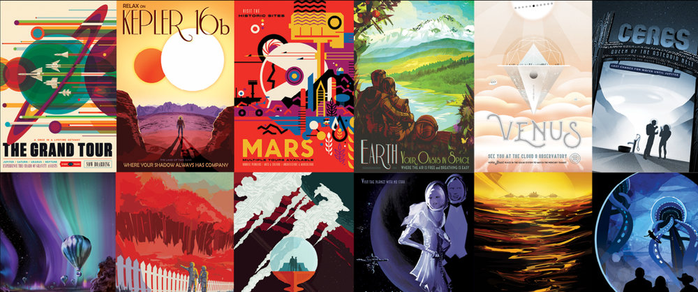 VISIONS OF THE FUTURE: Travel posters to other worlds