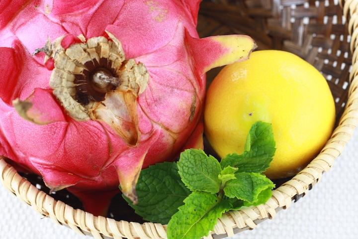 Dragon fruit, lemon and mint .JPG