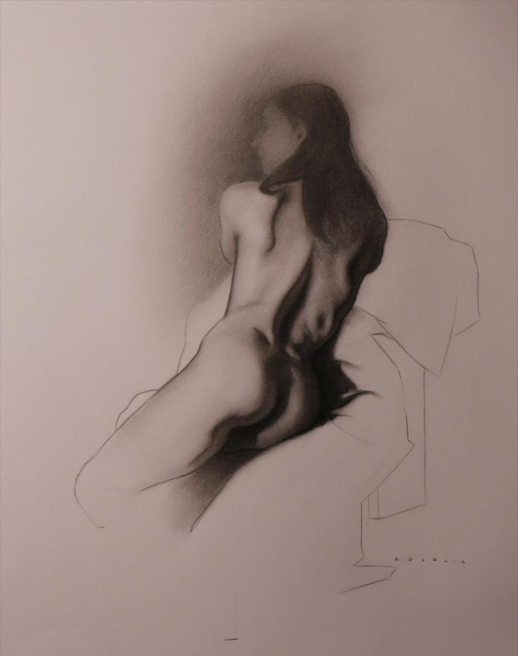 """study of sarah""  charcoal"