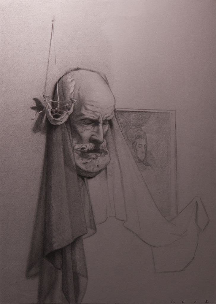 """an unfinished thought""  graphite"