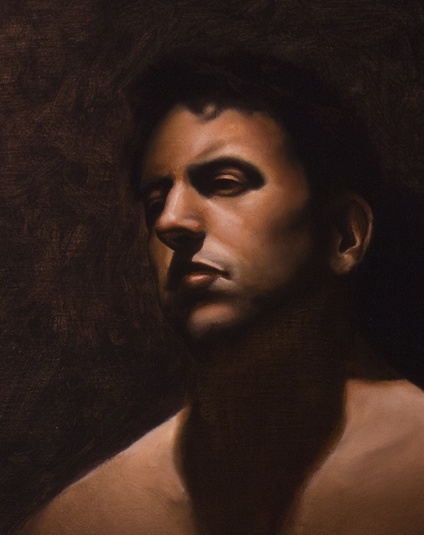 """in shadow""  oil on linen"