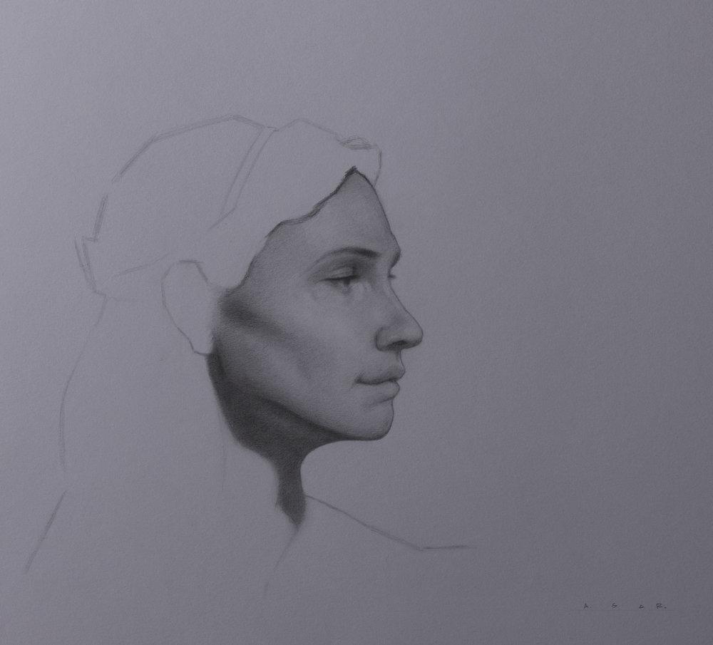 """""""study of maura""""  graphite"""