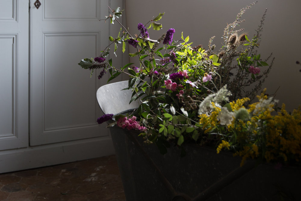 The zinc bath-tub in the flower studio