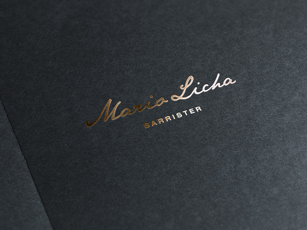 Luxurious copper foil printing on heavy uncoated stock