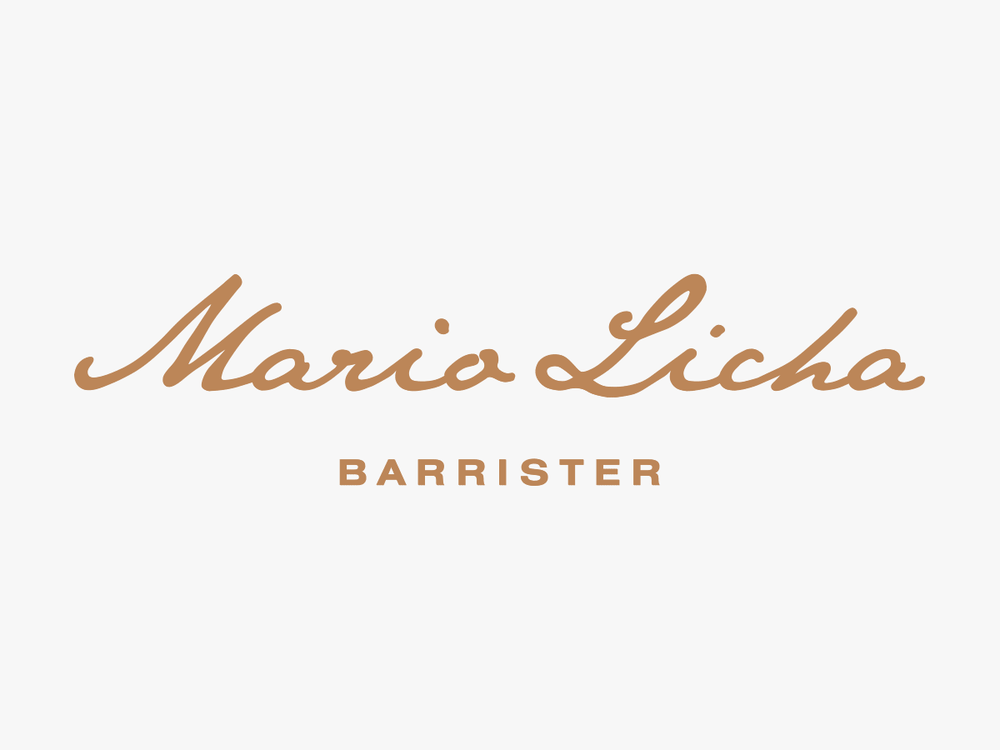Logo design for Mario Licha Barrister