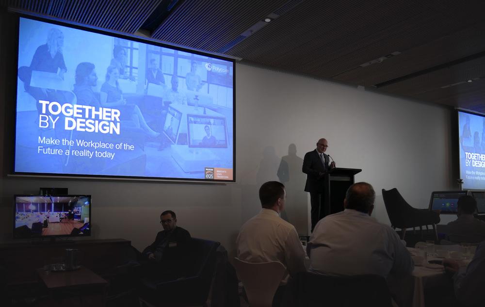 Presentation designs for the Polycom® event at the Museum of Contemporary Arts, Sydney