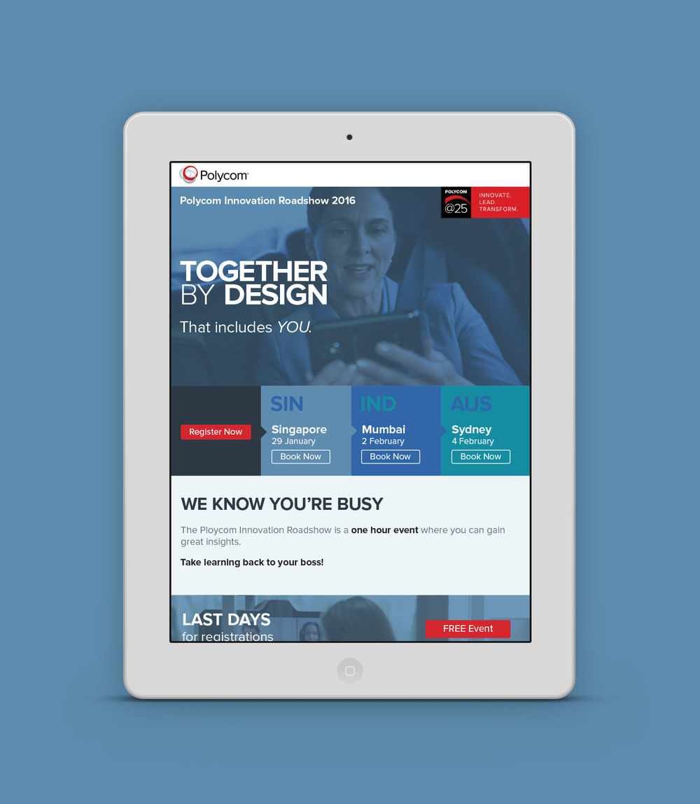 Mobile-responsive designs for email marketing program