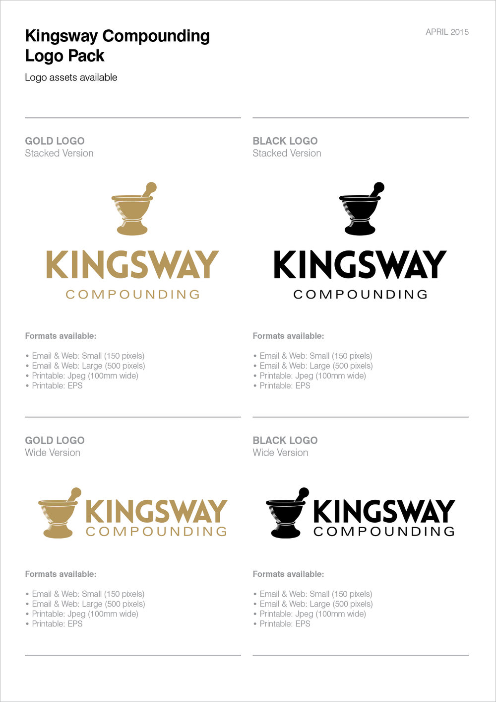 Above: Logo guidelines document