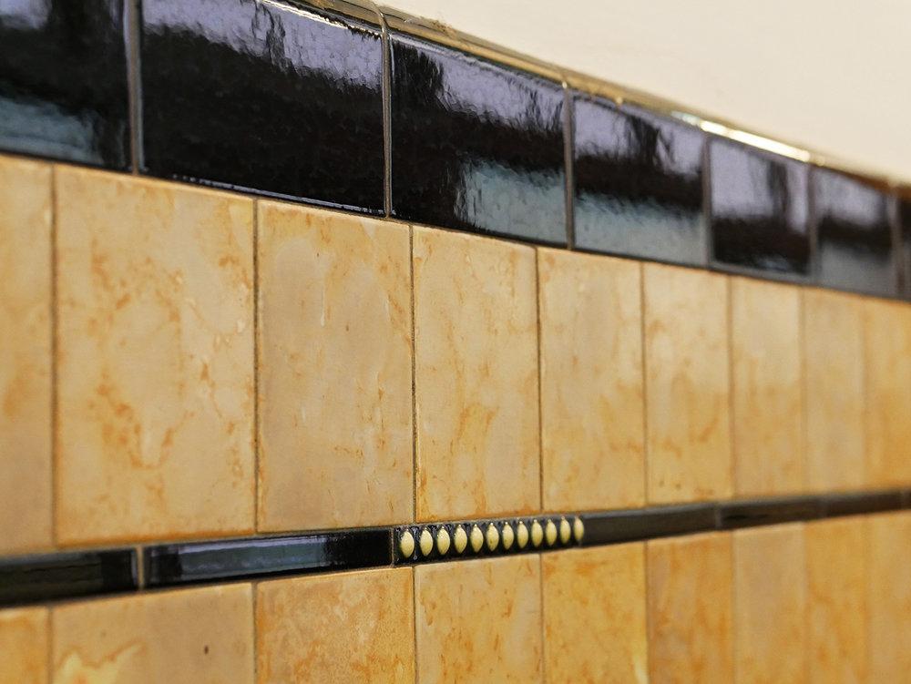 Original tilework throughout building