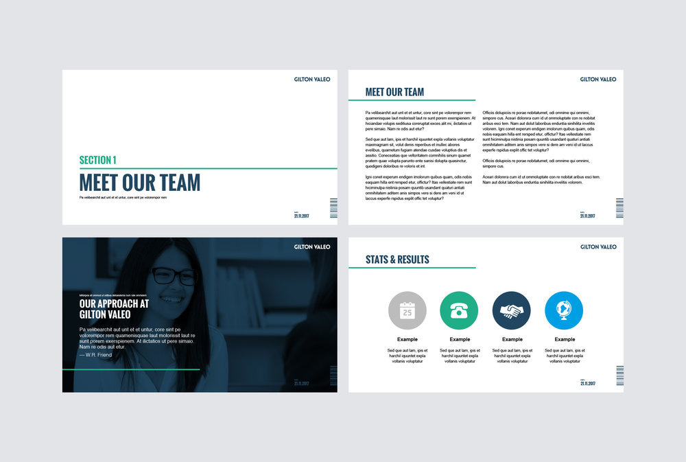 Powerpoint Template design.