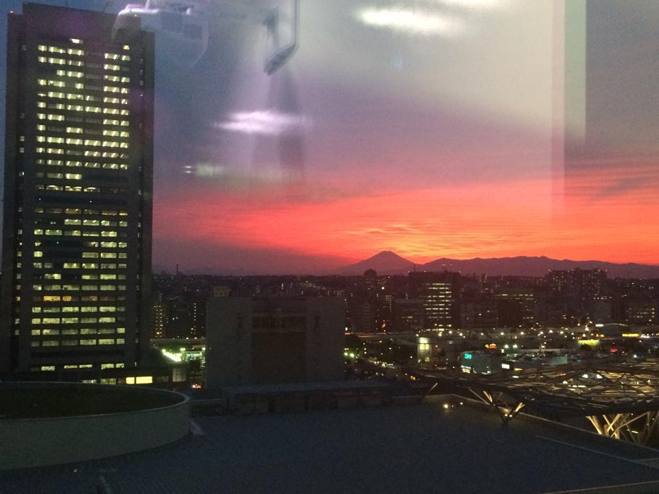 atWareからは夕日がみえます。とてもきれいです。