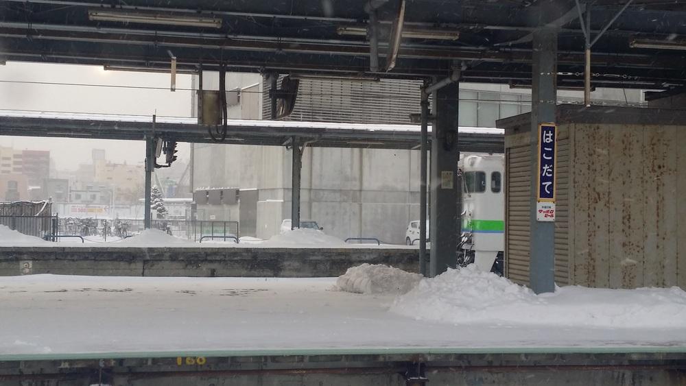 寒々とした函館駅