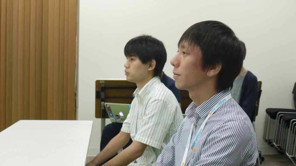 今年の内定者の2人 左 -大埜さん 右 - 松村さん