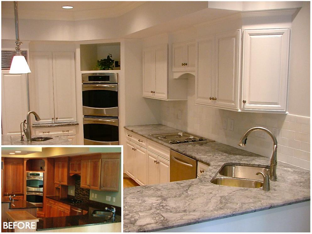 Pearl White Kitchen Refinish