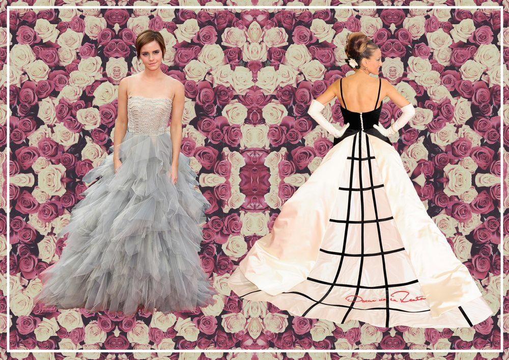 Emma Watson in Oscar de la Renta  Sarah Jessica Parker in Oscar de la Renta