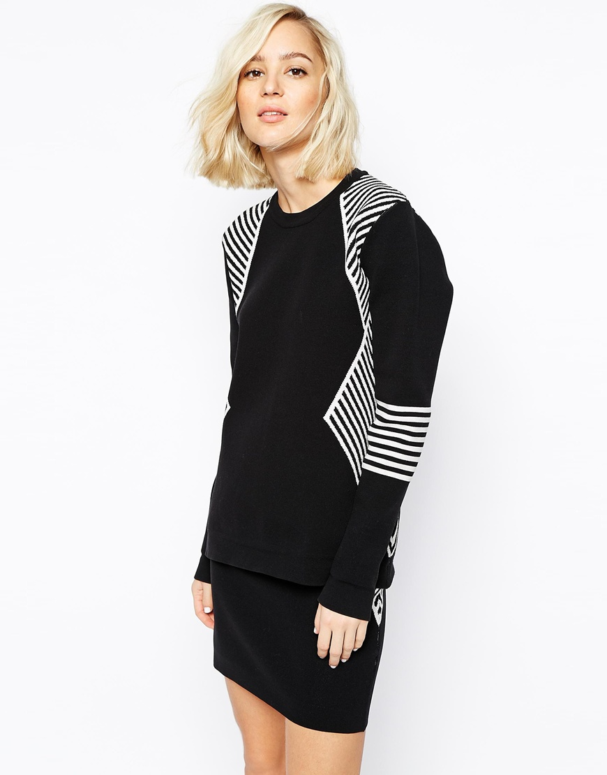 ASOS - GESTUZ KNITTED JUMPER IN MONOCHROME