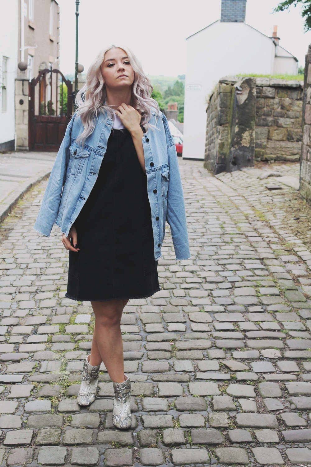urban outfitters denim pinafore