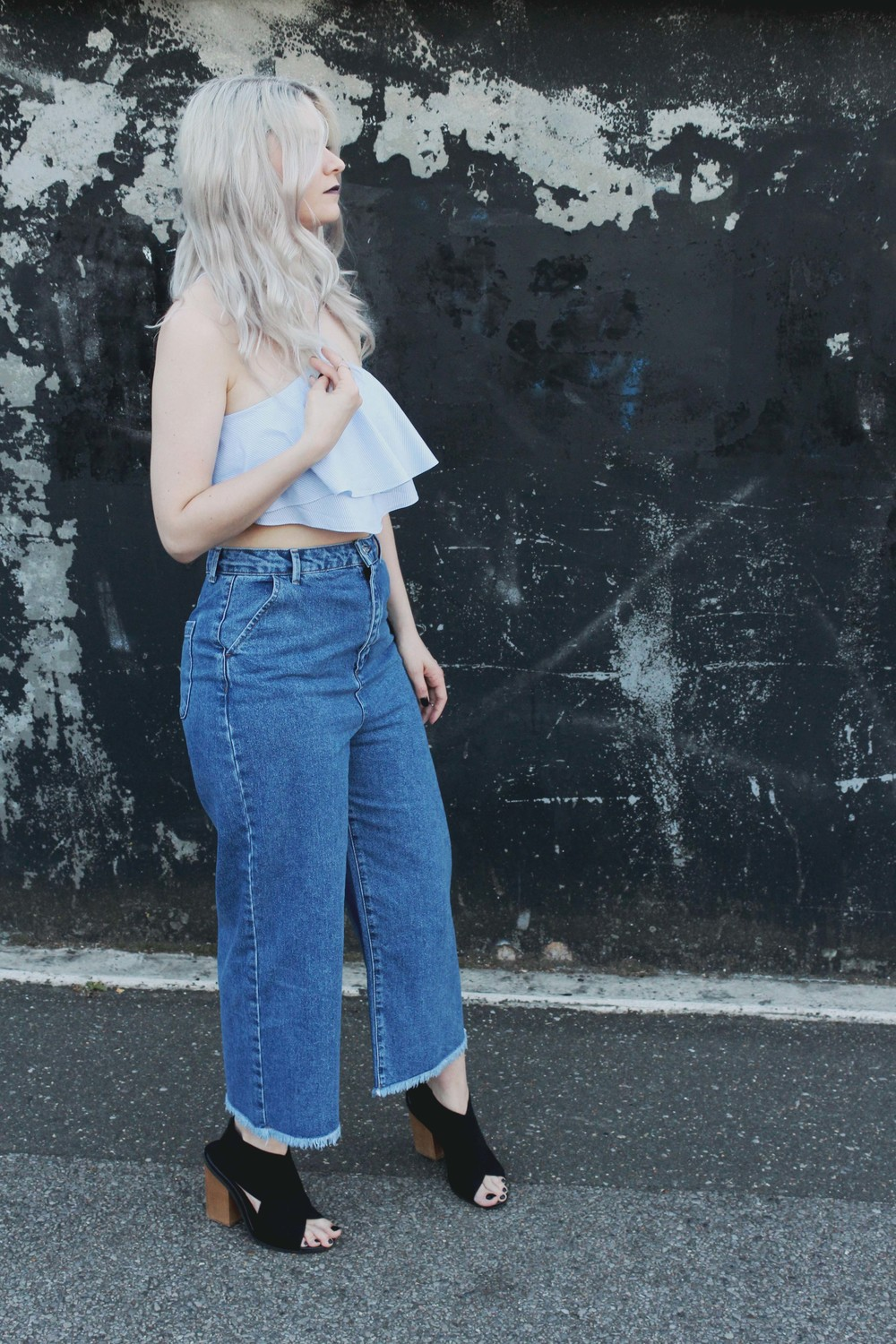 NORTHERN MAGPIE DENIM CULOTTES & CROP TOPS 2