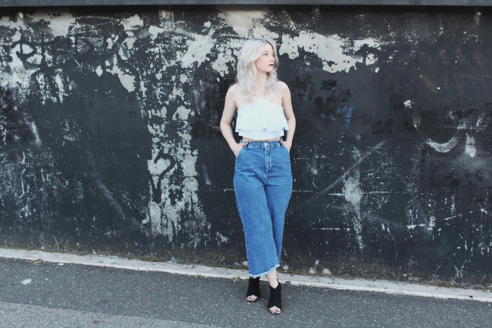 NORTHERN MAGPIE DENIM CULOTTES & CROP TOPS 3