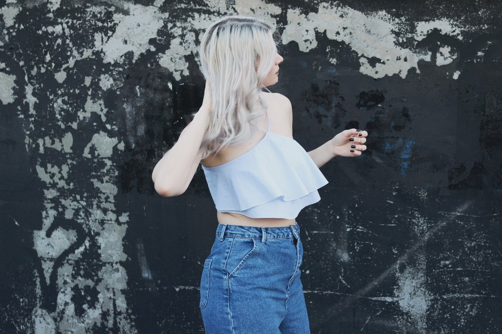 NORTHERN MAGPIE DENIM CULOTTES & CROP TOPS 4