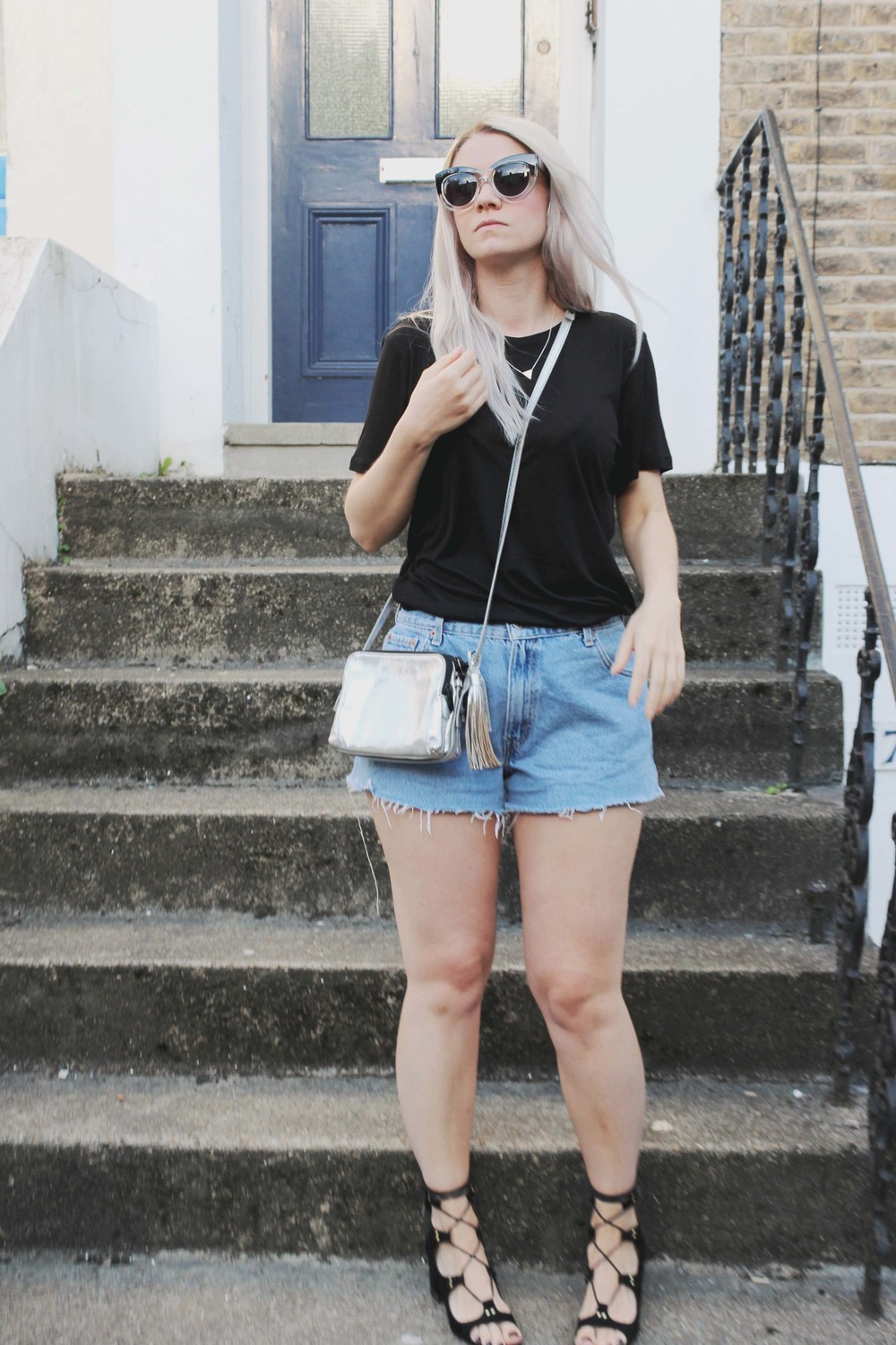 northern magpie levi denim shorts image 2